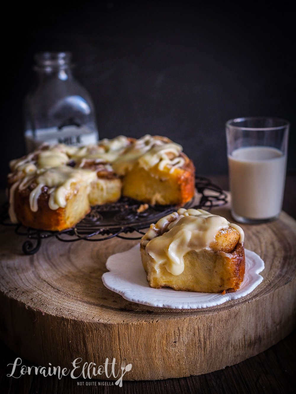 Cinnamon Buns With Browned Butter Cream Cheese Glaze