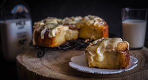 The SOFTEST Cinnamon Buns With Browned Butter Cream Cheese Glaze!