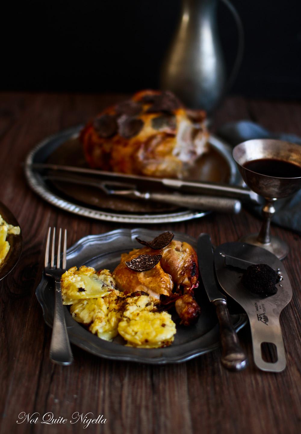 Truffle Recipes Roast Chicken Gratin