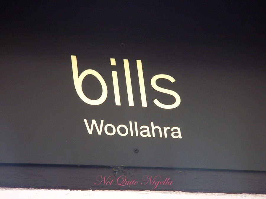 Bills at Woollahra