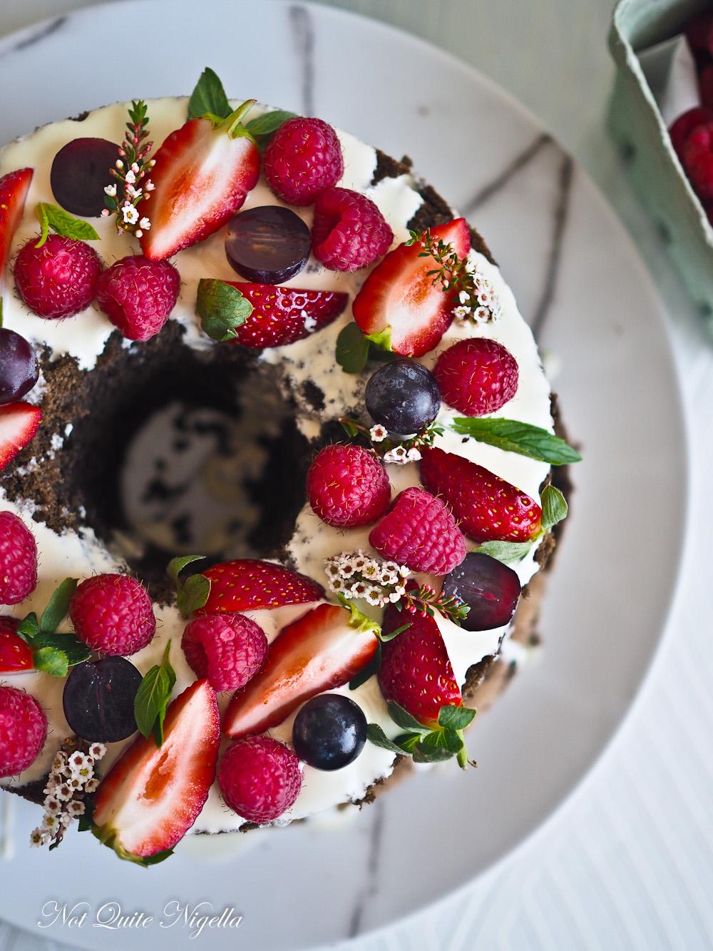Black Sesame Chiffon Sponge Cake