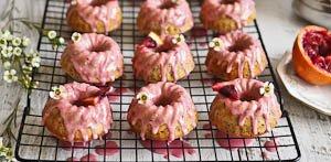 Blood Orange & Poppyseed Baby Bundt Cakes