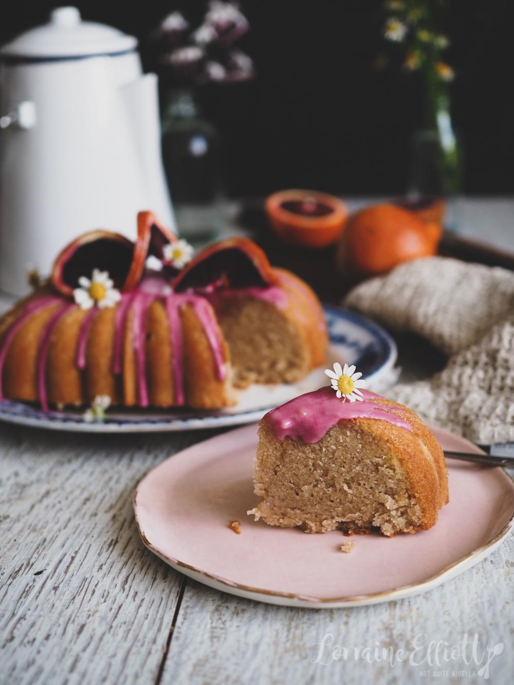 Blood Orange Yogurt Cake