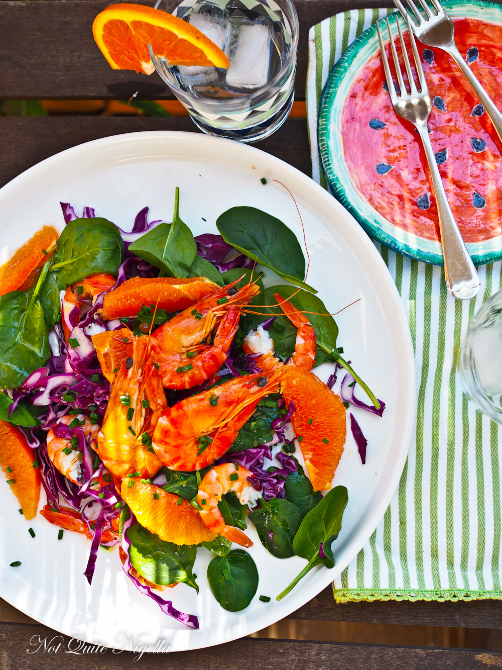 Prawn Blood Orange Salad