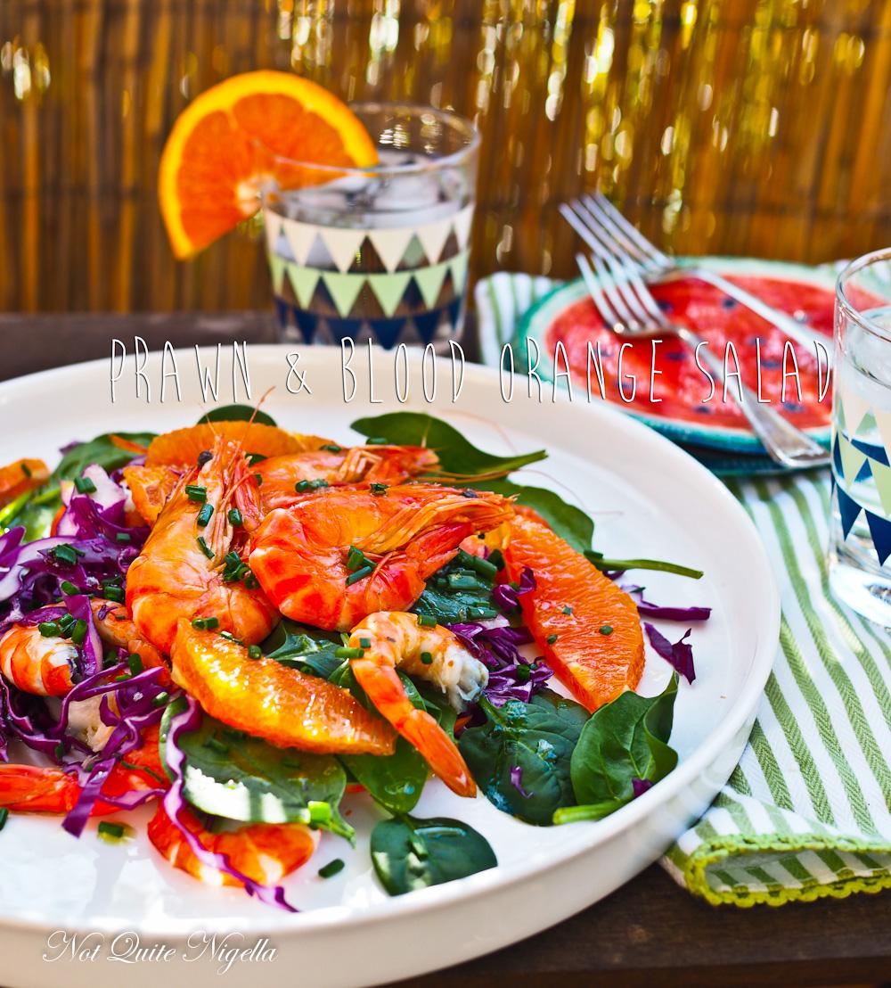 Prawn Blood Orange Salad