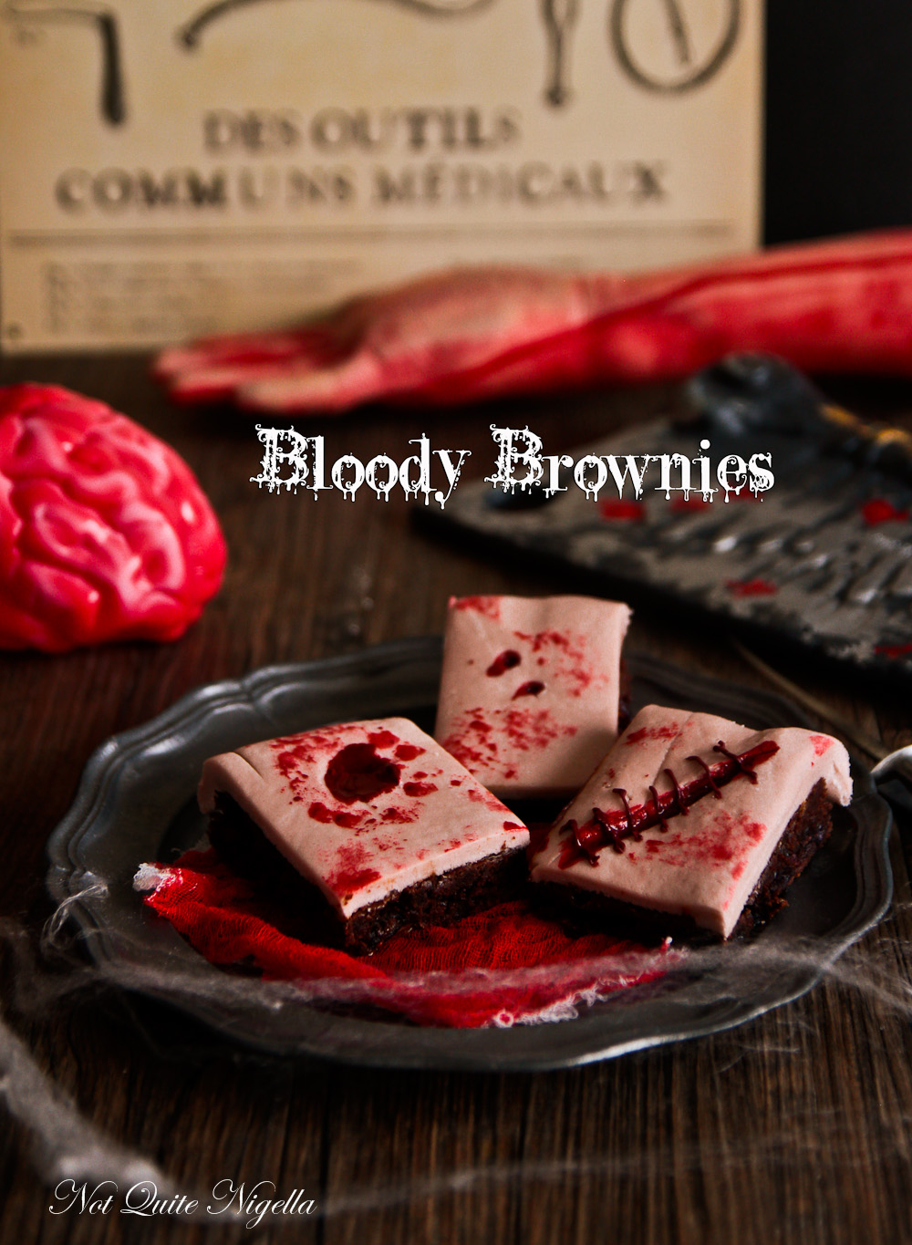 Bloody Halloween Brownies