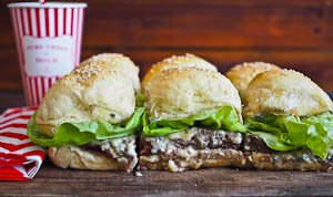 Easy Melty Blue Cheese Beef Sliders To Feed A Crowd! With Video!