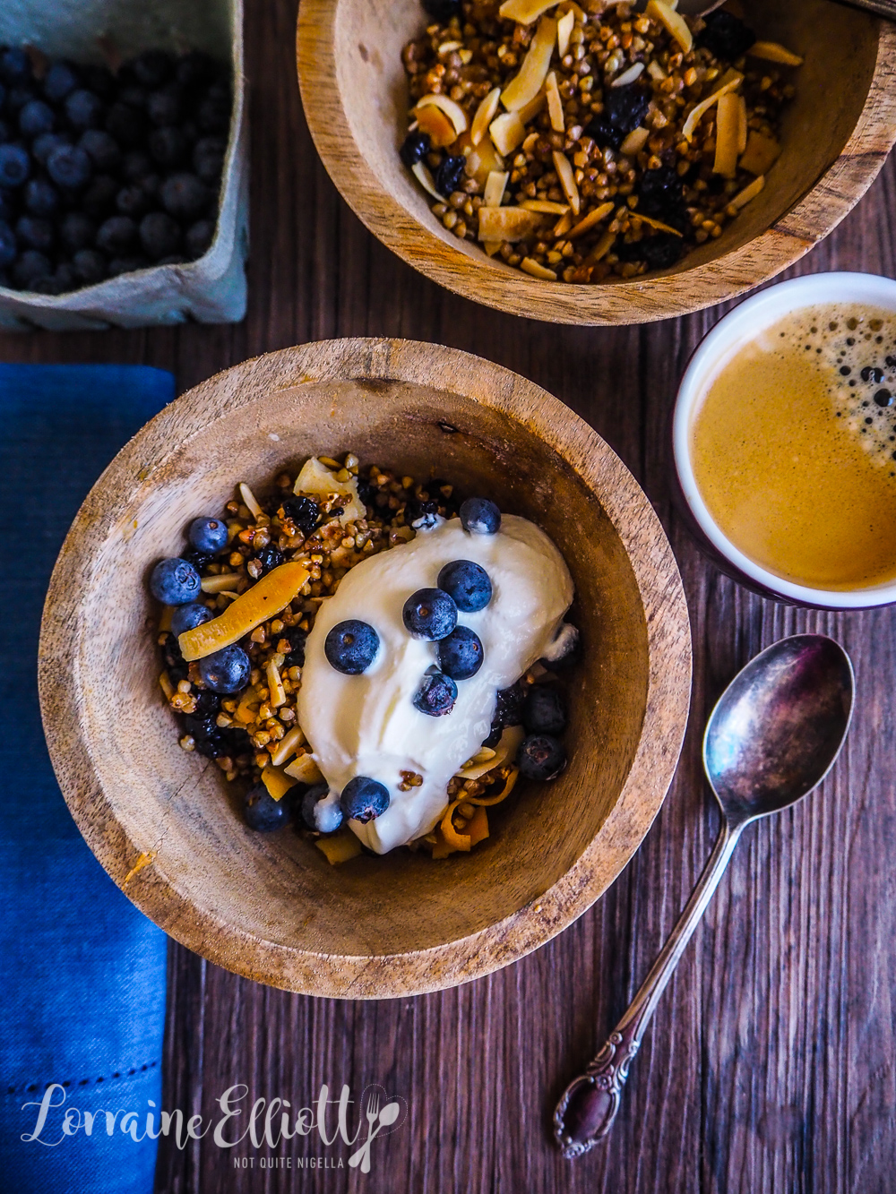 Blueberry Buckwheat Granola Gluten free