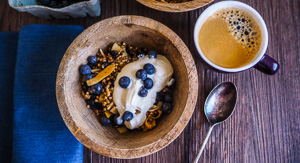 Crunchy Blueberry Buckwheat Granola {Gluten Free}