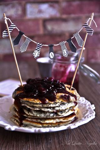 blueberry chia pancakes