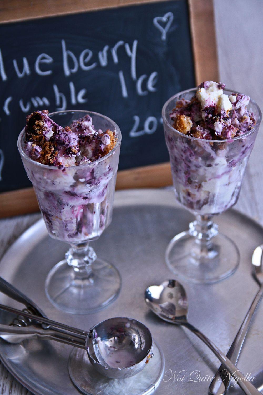 Blueberry Crumble No Churn Ice Cream