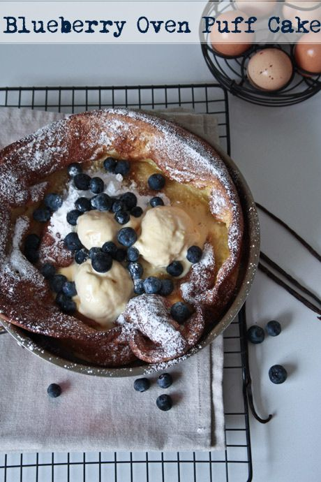 blueberry oven puff cake