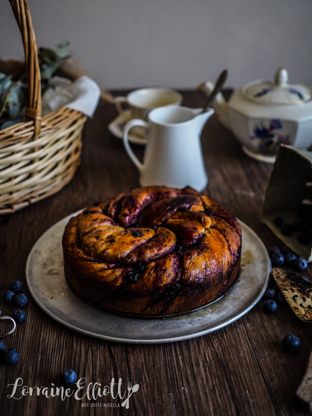 Blueberry Scroll Ring Babka