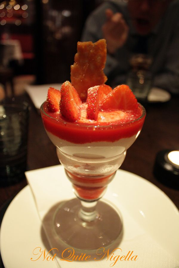 Bluebird cafe chelsea strawberry fool