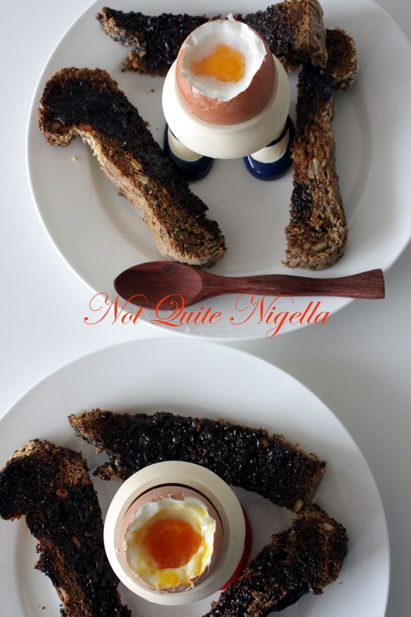 Free Range vs Cage eggs and Boiled eggs with Vegemite Soldiers