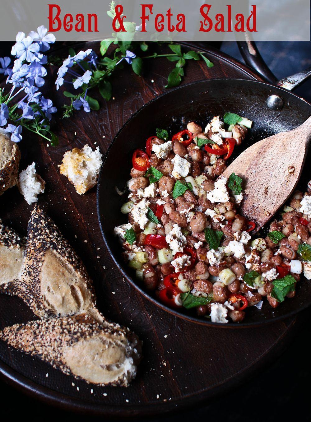 Ottolenghi Inspired Borlotti Bean & Feta Salad
