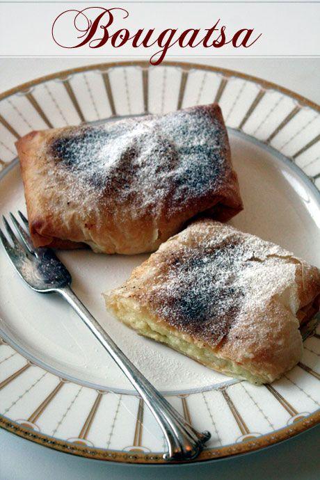 Bougatsa - Custard Filled Filo Pastries