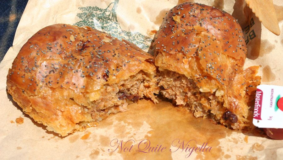 Bourke Street Bakery, Surry Hills Lamb, harissa and almond sausage roll