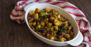 CRISPY GOLDEN Brabant Potatoes or Garlic Butter Potatoes!