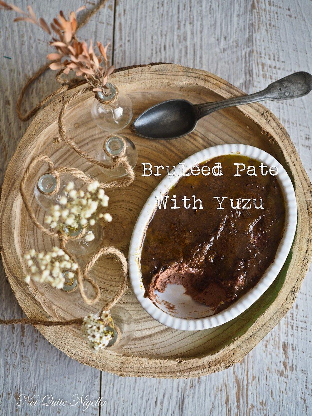 Bruleed pate with yuzu