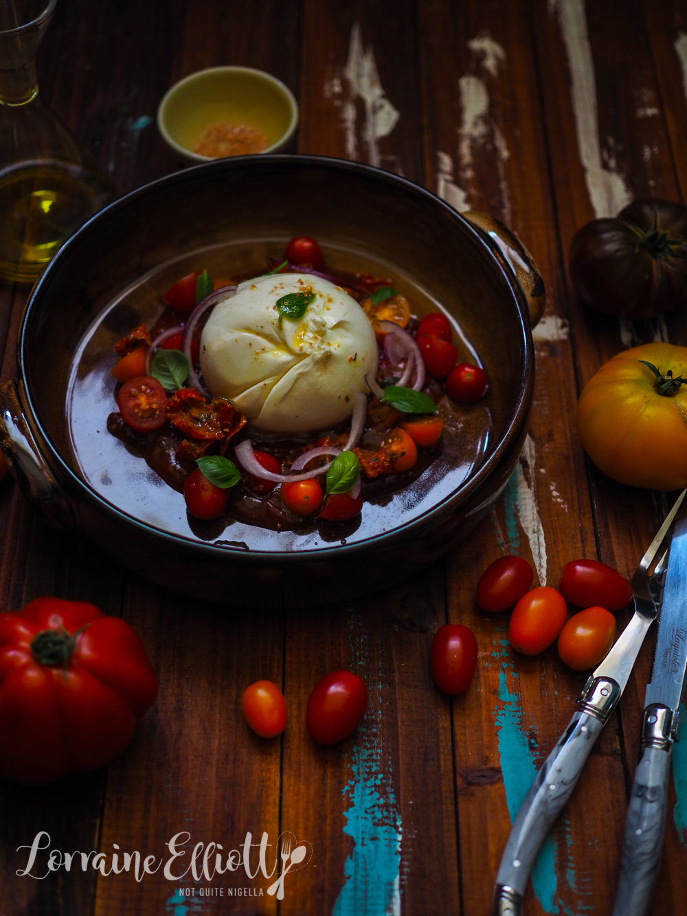 Burrata With Trio Of Tomatoes