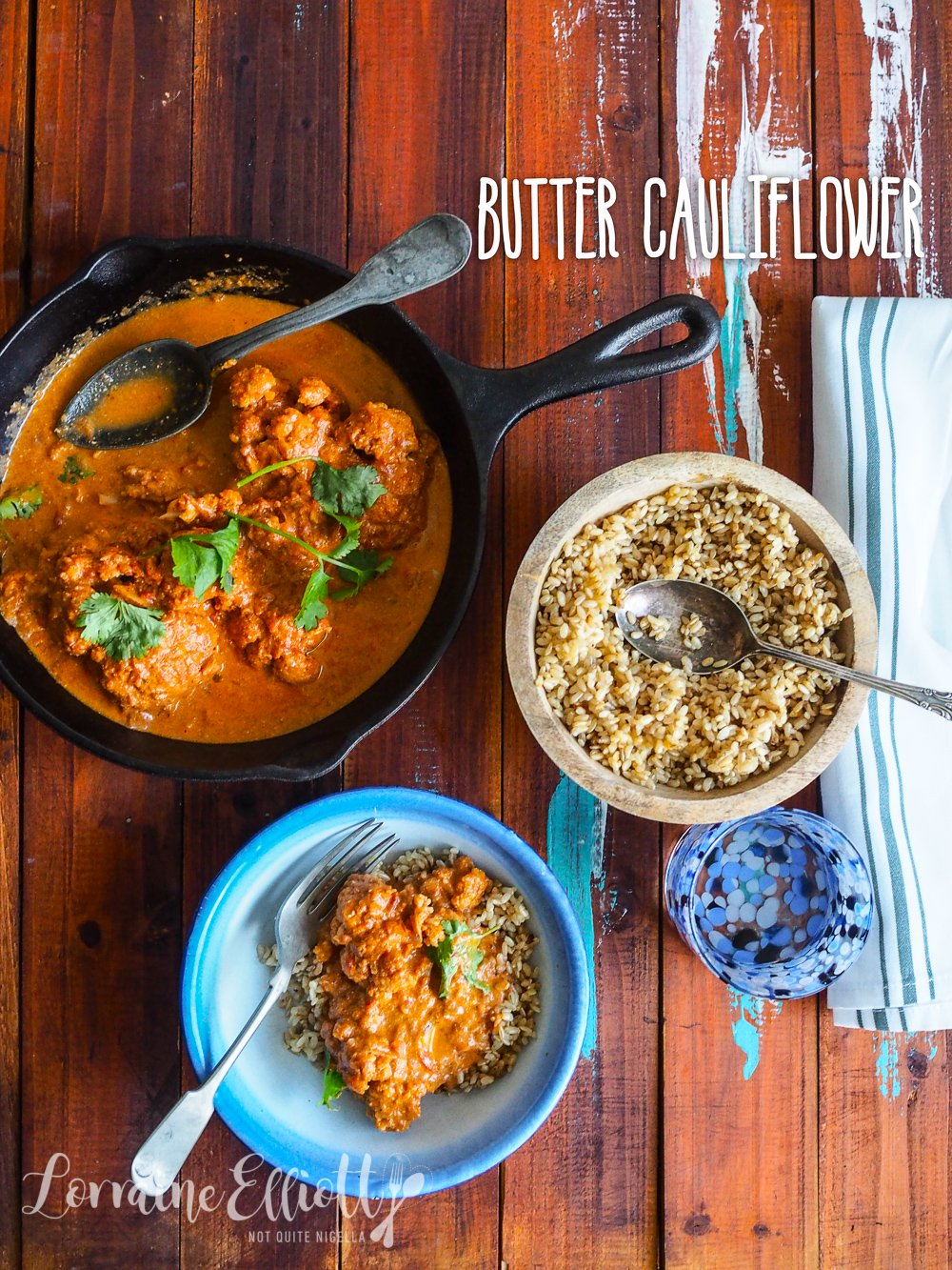Butter Cauliflower recipe vegetarian curry