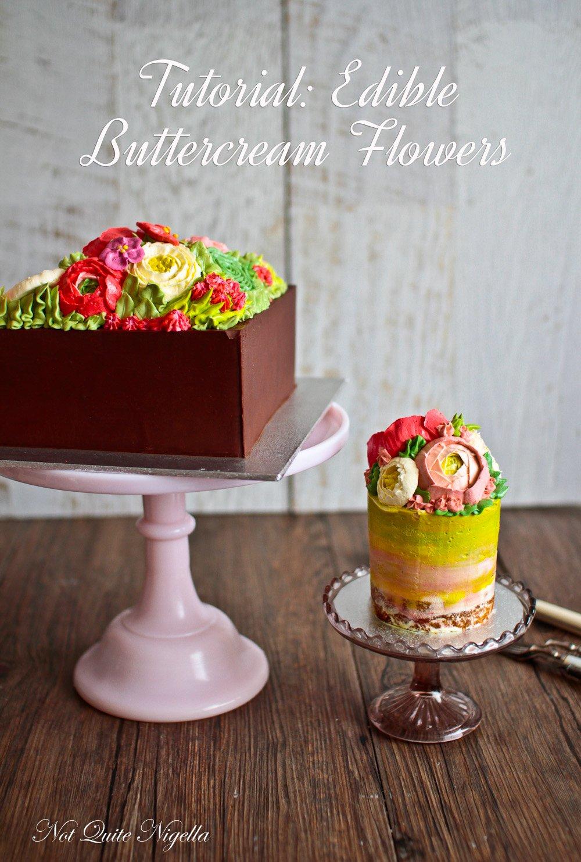 Tutorial For Buttercream Flowers Rununculus Sweet Pea Cactus