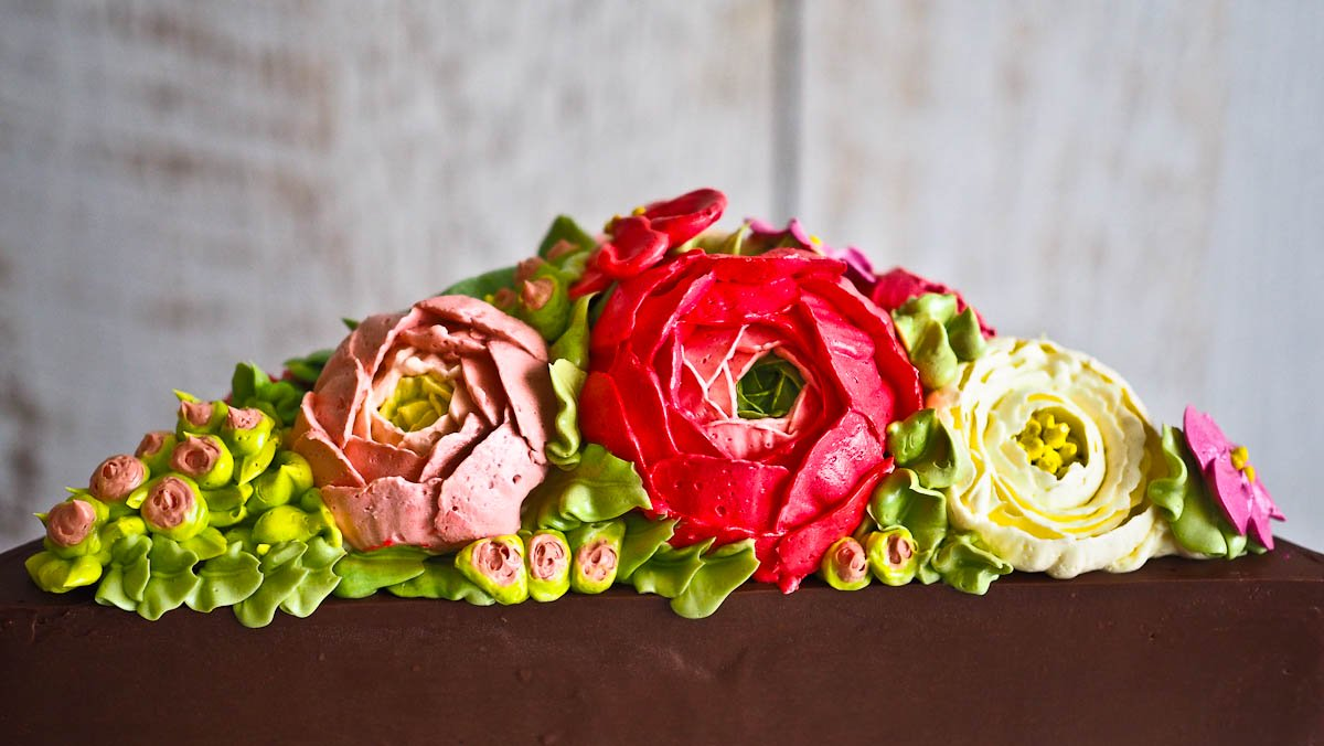 Tutorial For Buttercream Flowers Rununculus Sweet Pea Cactus ...