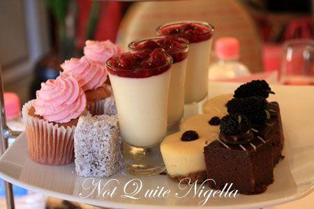 sir stamford pink high tea sweets