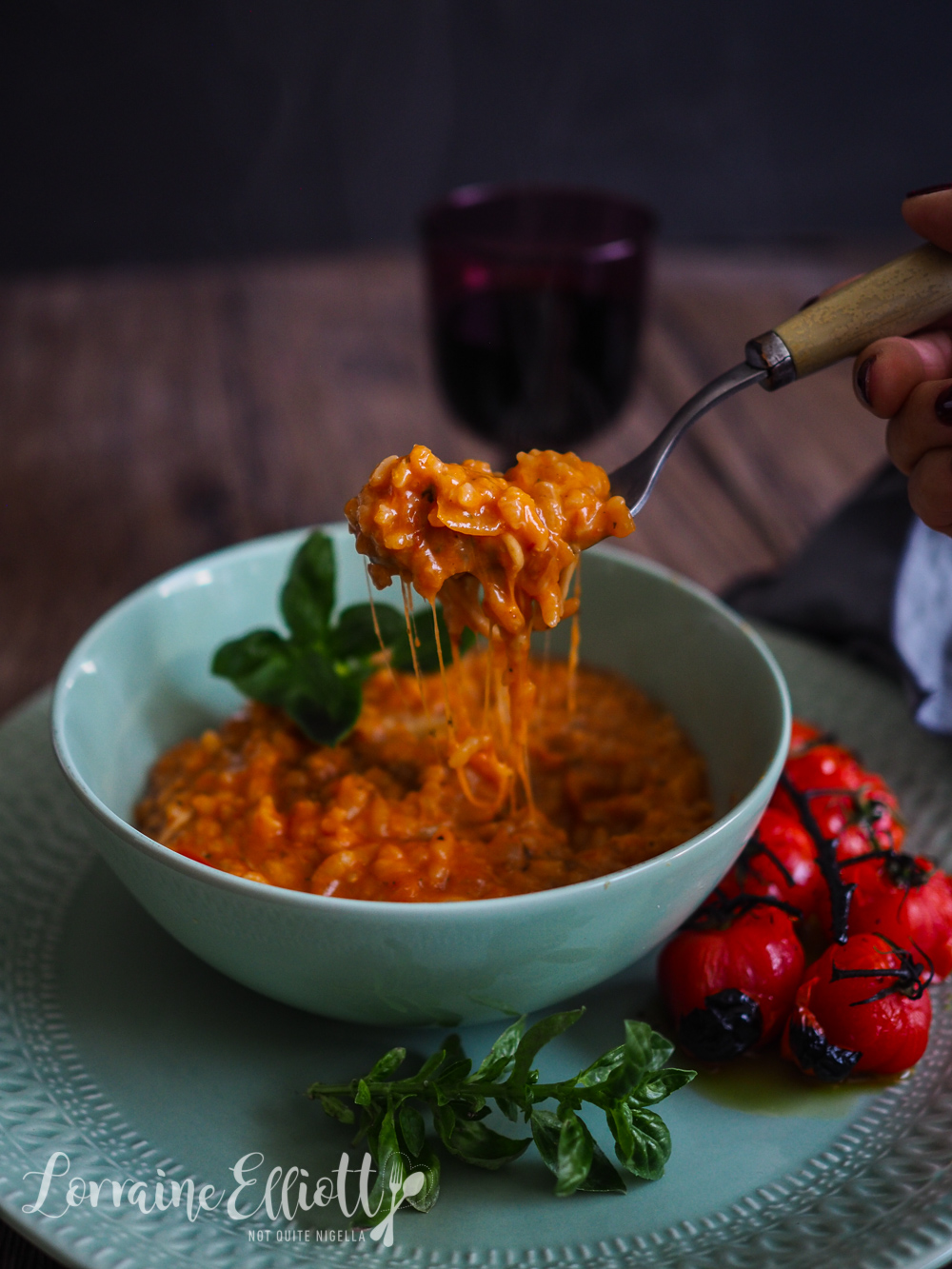 Caprese Risotto Rice Cooker risotto