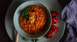 You Drive Me Caprese: Caprese Risotto In a Rice Cooker!