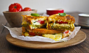 The Ultimate Luscious, Melty Caprese Toastie!