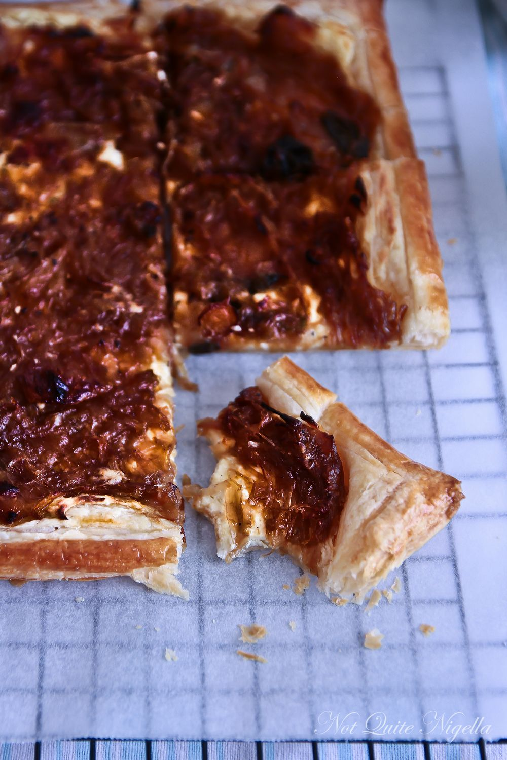 Caramelised Onion & Cream Cheese Tart