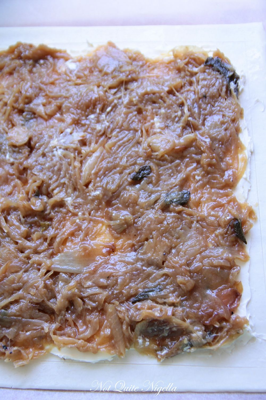 Caramelised Onion & Cream Cheese Tart