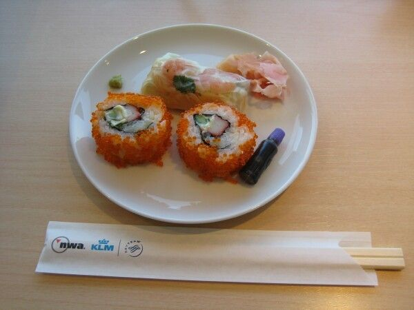 North West Airlines Narita Lounge Sushi