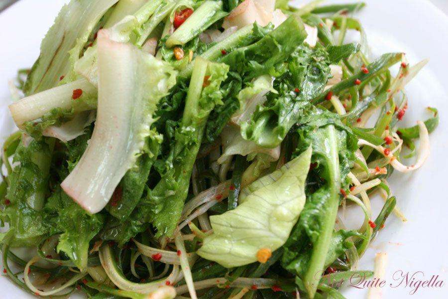 Carne Station at Parramatta Prawns  Spring Onion Salad