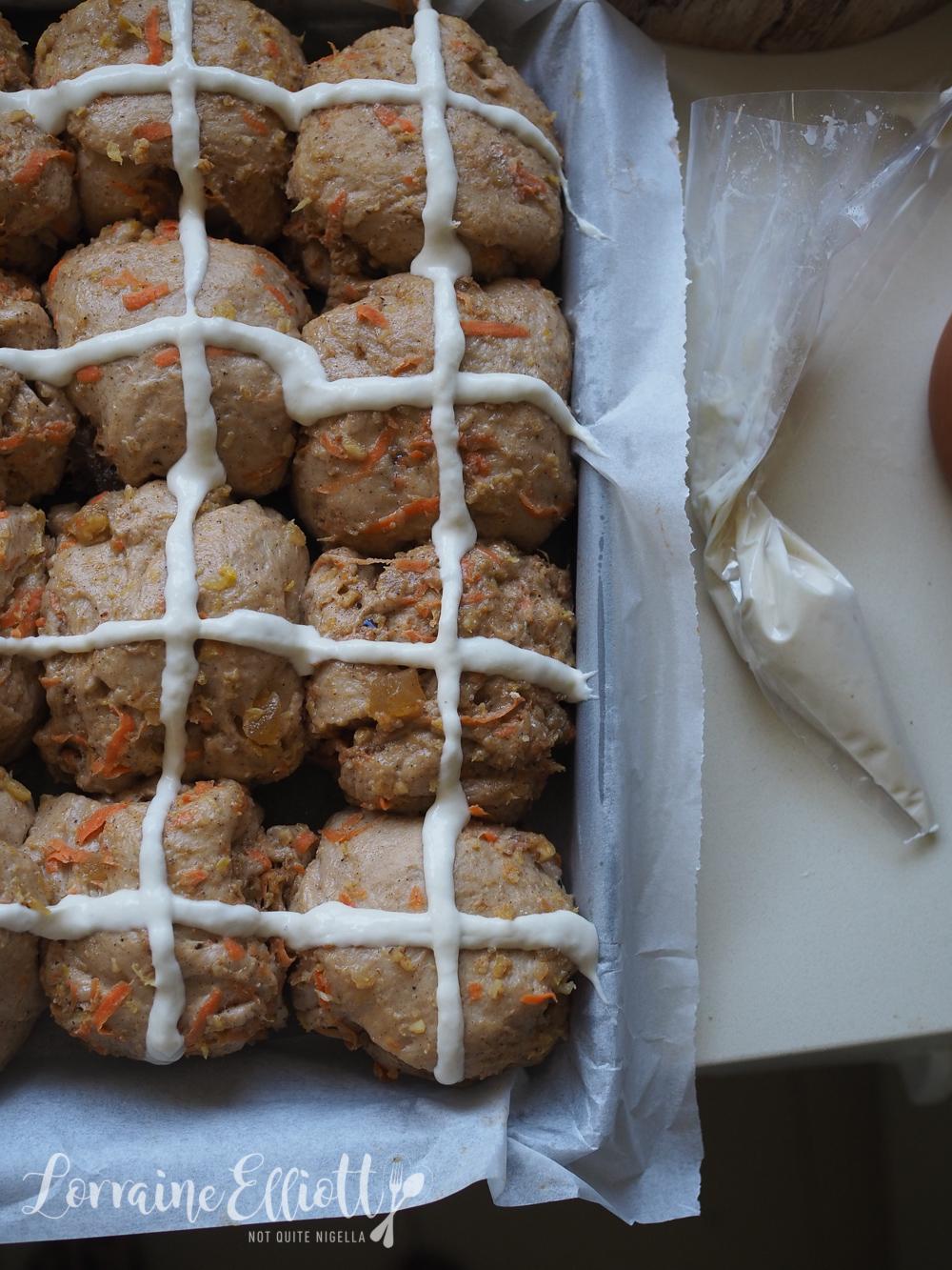 Carrot Cake Hot Cross Buns