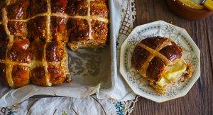 The Chosen Bun - Carrot Cake Hot Cross Buns!