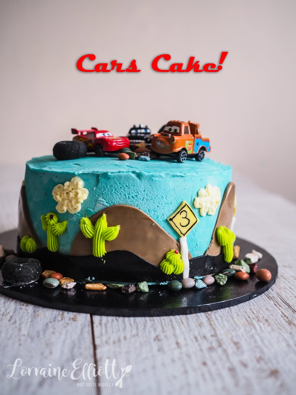 Cars Movie Novelty Buttercream Cake recipe