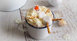 Floating Snowman Chai Eggnog!