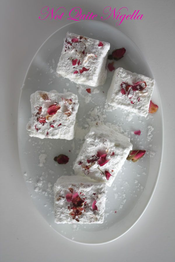 Champagne and Rose Petal Marshmallows