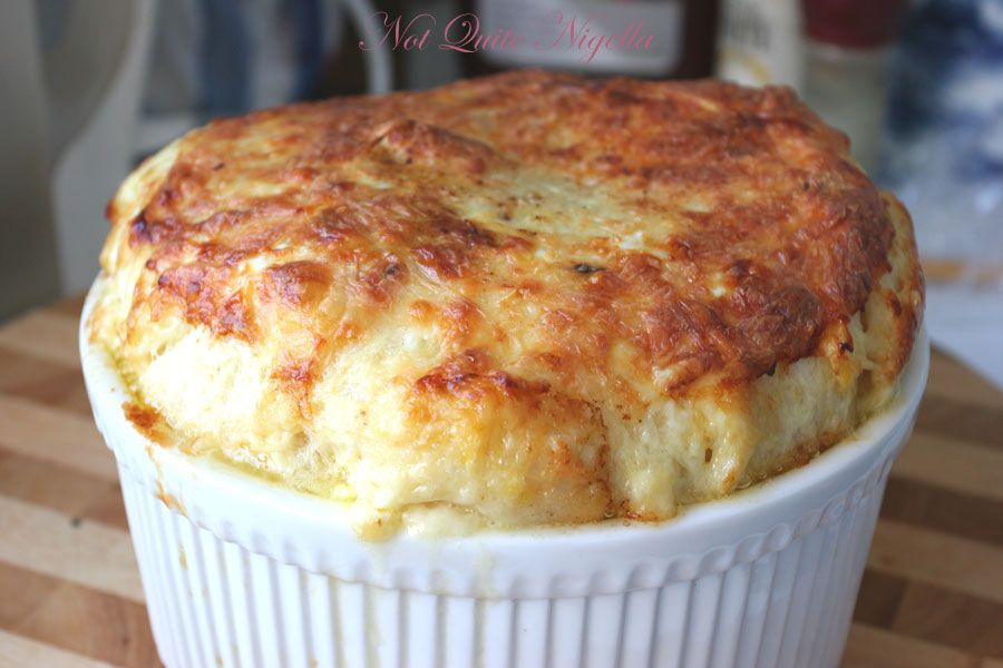 Cheat's cheese souffle