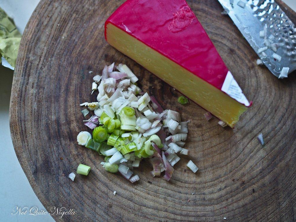 Cheddar Bacon Souffle
