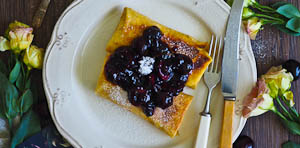 Cheese & Cherry Blintzes for Mother's Day Brunch