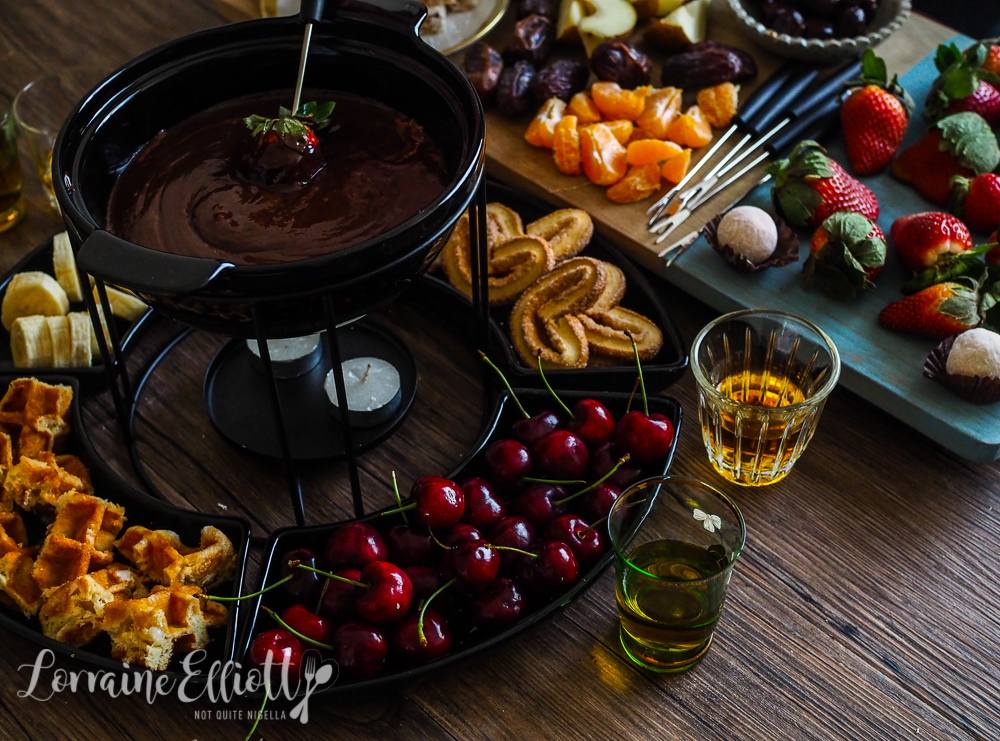 Cheese & Chocolate Fondue And Hot Buttered Rum