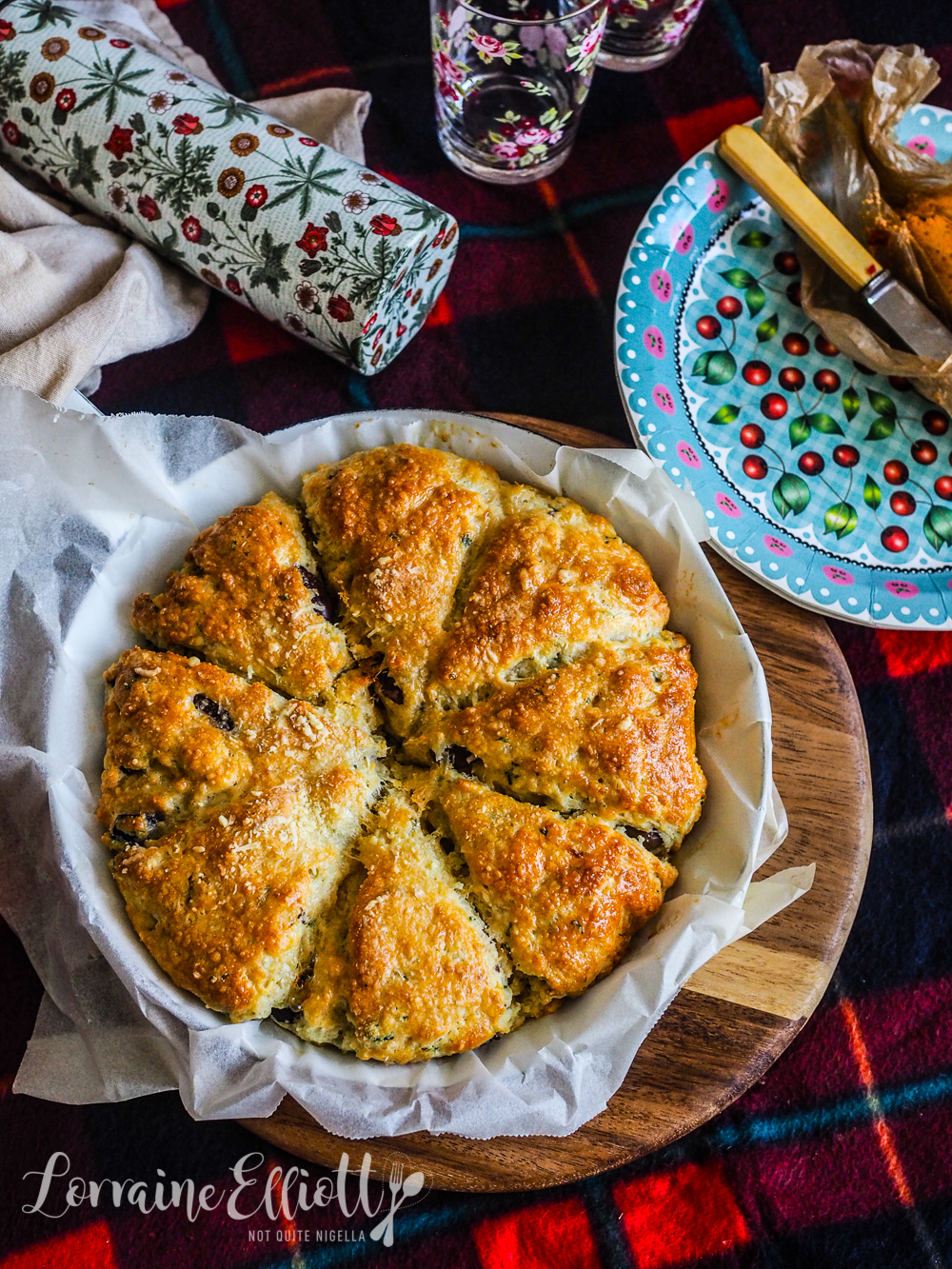 Cheese, Olive & Herb Scones