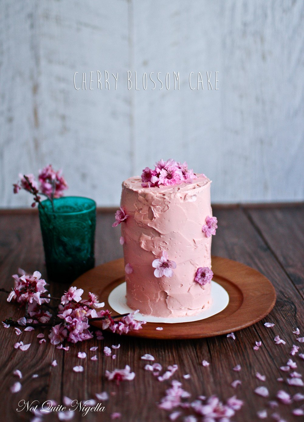 Cherry Blossom Checkerboard Cake
