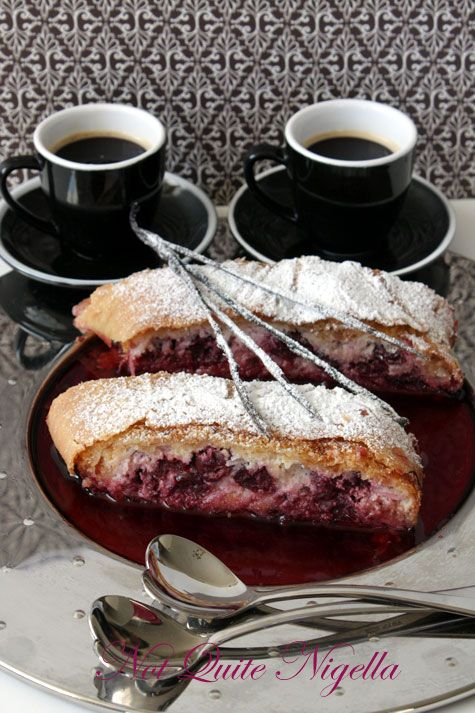 Cherry, Cheese & Coconut Strudel - Daring Bakers May 2009 challenge