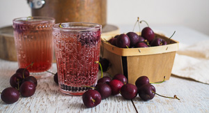 Waste Not - Cherry Pit Syrup!
