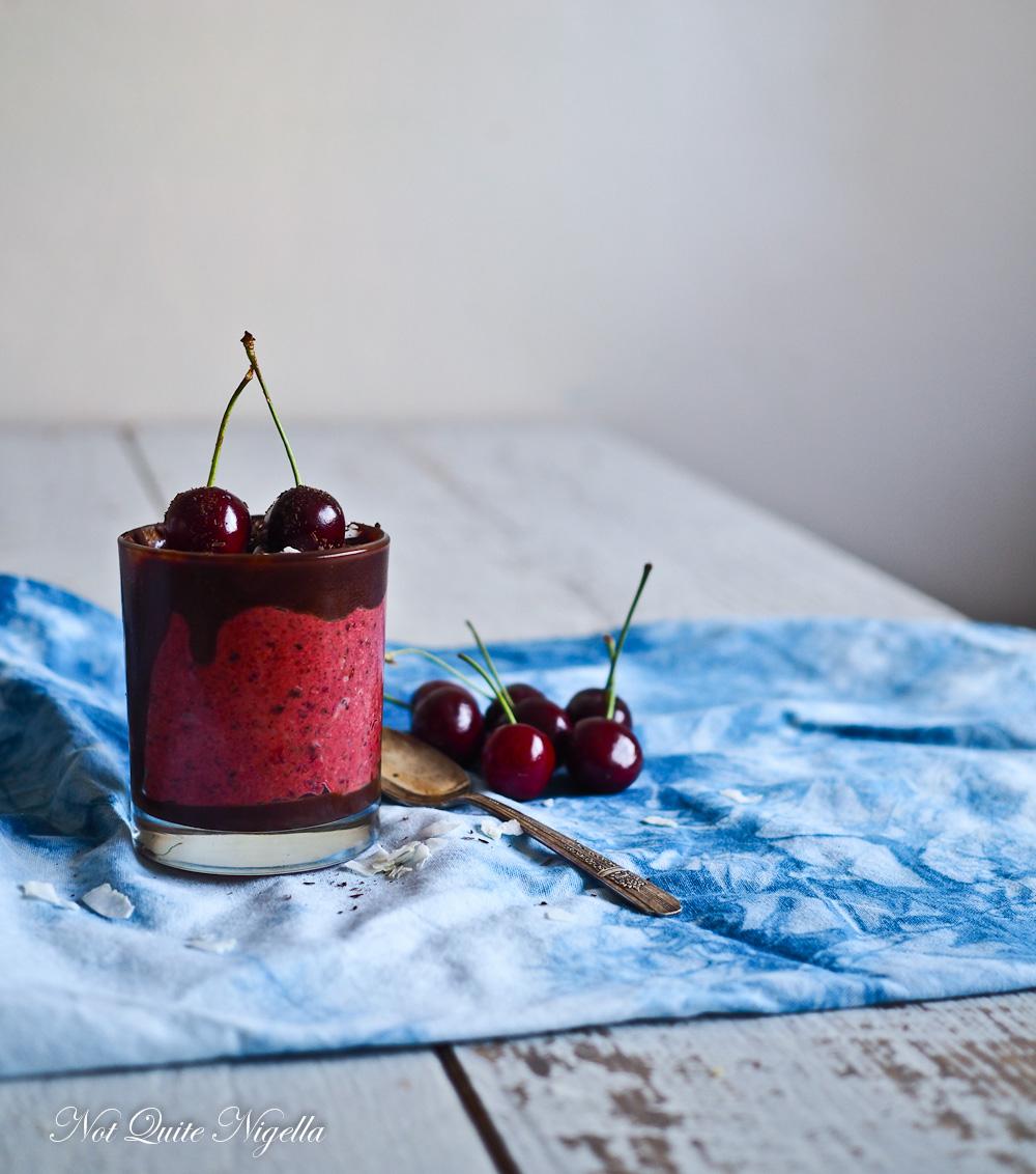 Cherry Ripe Parfait